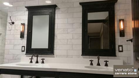 carrara venato marble polished 4x12 quot subway floor and wall