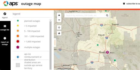 aps rolling  power outage map  time  monsoon season