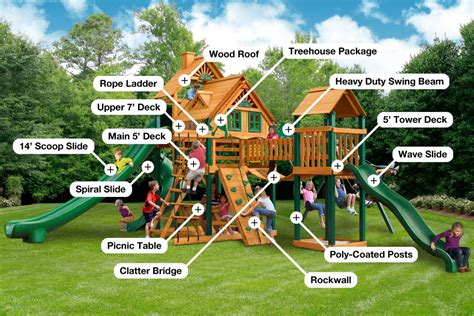 backyard playset treasure trove ii treehouse by gorilla playsets product