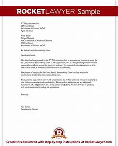 Cover Letter Non Profit Sample Letter Of Intent For Grant For Non Profit Template With