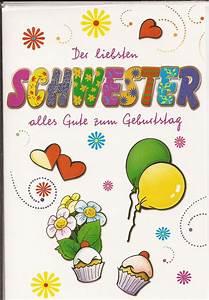50 Geburtstag Schwester : geburtstagskarte der liebsten schwester alles gute zum geburtstag ebay ~ Frokenaadalensverden.com Haus und Dekorationen
