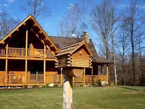 Connecticut Countryside Log Home - Contemporary - Exterior
