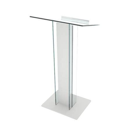 bureau reglable pupitre de conférence pythagore en plexi et bois design