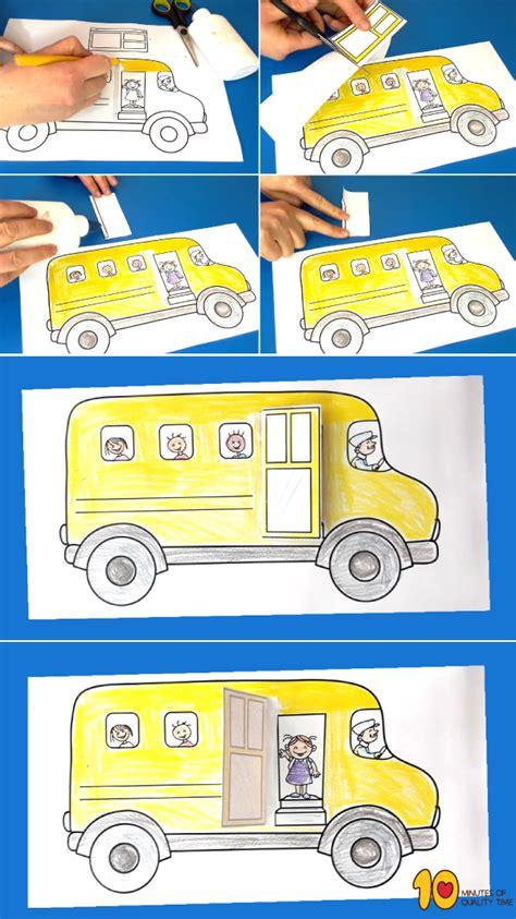school bus opening door paper craft  minutes