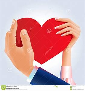 Couple Hands Holding Red Heart Royalty Free Stock ...