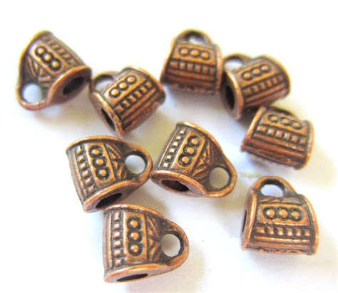 24 Copper Charm Hangers Jewelry Making Supplies Pendant