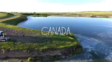 severn dam reservoir alberta canada youtube