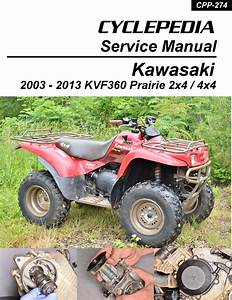 Kawasaki Kvf360 Prairie Printed Cyclepedia Atv Service Manual