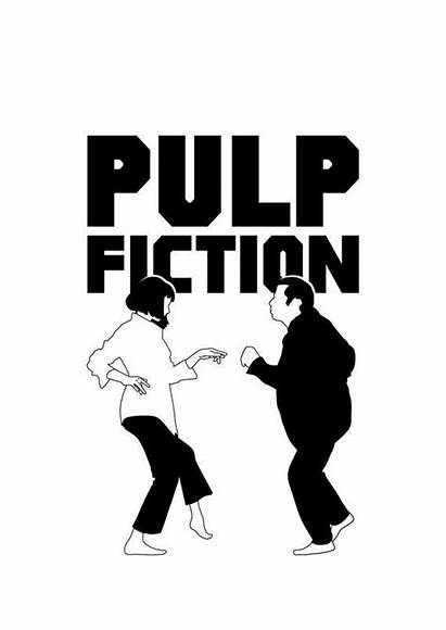 Pulp Fiction Vector Illustrations Gift Office Wall