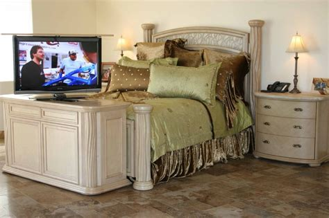 any room bedroom end of bed tv lift florence of bed tv lift furniture built by cabinet