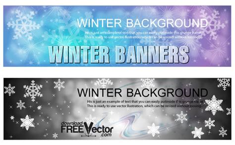 winter banners templates  vector art