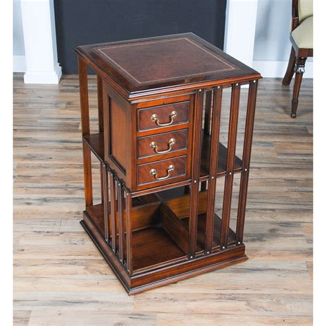 Leather Bookcase by Leather Top Revolving Bookcase Niagara Furniture Free