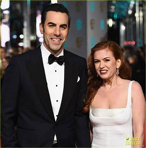 Isla Fisher & Sacha Baron Cohen Hit BAFTAs 2016 Red Carpet ...