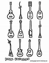 Coloring Guitar Instrument Musical Instruments Pages Guitars Printables Acoustic Draw Printable Sheets String Sheet Amazing Boys Yescoloring Types Many Kid sketch template