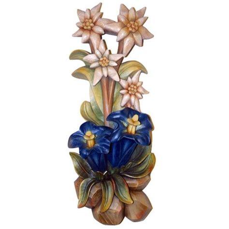 edelweiss fiore alpino fiore alpino da parete fiori vendita scultura in legno