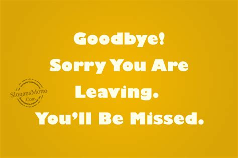 farewell slogans