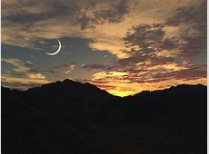 Sunset and Crescent Moon by caerwynentllc on DeviantArt