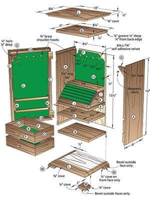 wood jewelry box plans  gem   jewelry chest