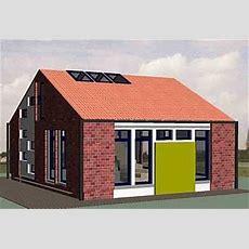Designer Haus, Ein Kleines Fertighaus Mit Satteldach