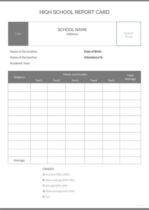 school report template   sample  format