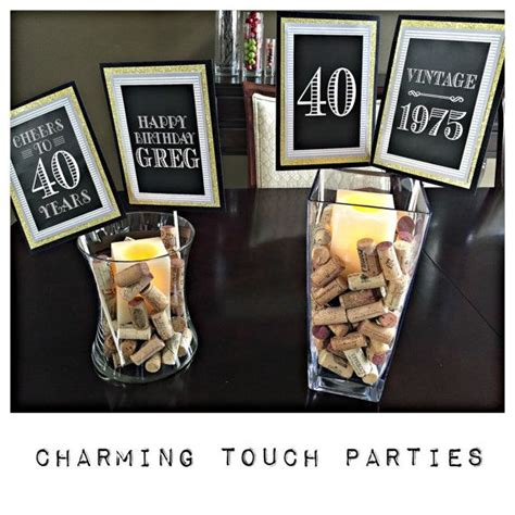 25 best ideas about 40th birthday centerpieces on