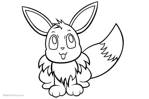 eevee coloring pages  memimouse  printable