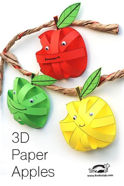 paper apples fruit crafts bee crafts  kids paper