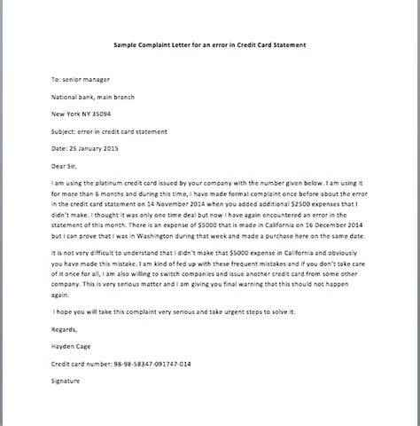 sample request letter  cancel  credit card smart letters
