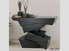 Contemporary sofa table, modern console table with drawers