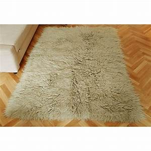 Buy Greige Flokati Rug 2800gm2 60x120cm Online The Real