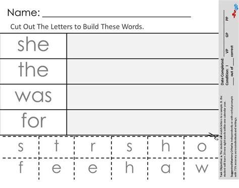 18 best autism worksheets reading skills images on