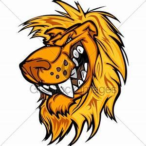 Smiling Cartoon Mountain Lion Or Cougar Mascot Vector Gra ...