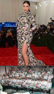 Kim Kardashian Flower Dress Couch - Best Dress 2017