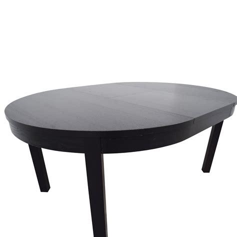 bjursta extendable dining table 89 off ikea ikea bjursta extendable round to oval