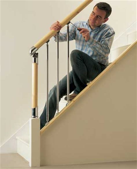 fitting banisters fitting fusion handrail stairparts chrome and brushed nickle