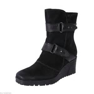 s boots with arch support cheap earth womens comfortable leather wedge arch support ankle boot knoll black ebay