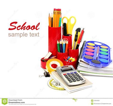 fournitures bureaux fournitures de bureau d 39 école et photos stock image