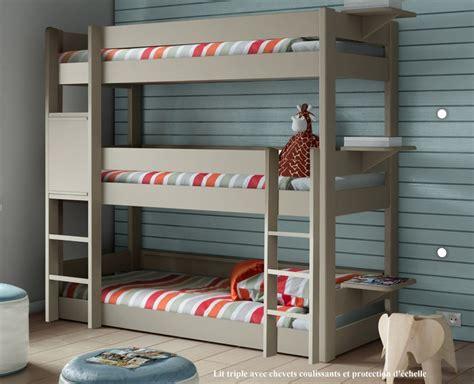 un lit superpos 233 trois places c est le lit enfant 233 cologique en bois massif de mathy by