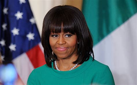Michelle Obama Mid-length Bob