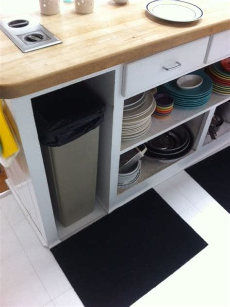 under cabinet trash bins large under counter trash bin in need of a pull out system