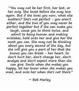 Bob Marley Quotes On Love: You May Not Be Her First