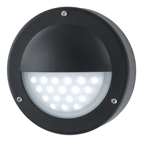 modern led outdoor mini garden wall step light black 8744bk