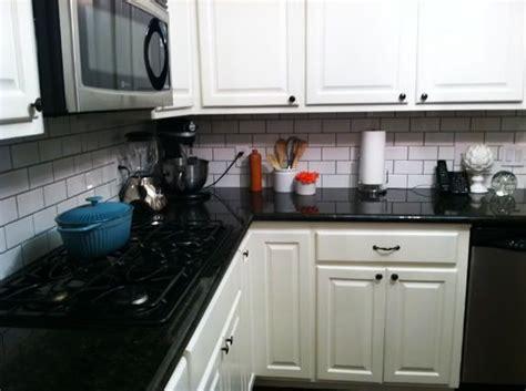 White Backsplash With Black Grout : White Subway Tile Black Grout Kitchen