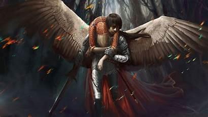 Angel Warrior Fantasy Female Angels Dark Warriors