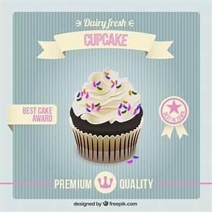 Vintage cupcake poster Vector | Free Download