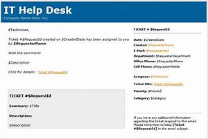 html in email templates With service desk email templates