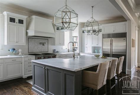 gray kitchen island white and gray kitchen designed by jackbilt homes home bunch interior design ideas
