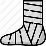 Broken Leg Lineal Icons
