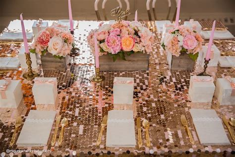 Pink And Gold 1st Birthday Decorations by Kara S Ideas Pink Gold 1st Birthday Kara S