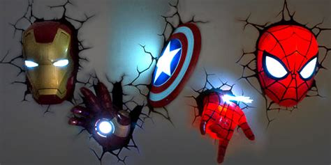 3d marvel wall lights 10 ways to make your home look